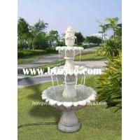 Red Marble 3 Tiers Garden Stone Water Fountain Manufactures