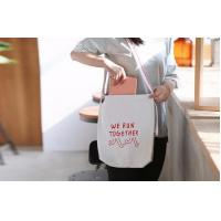 Fashionable Promotional White Cotton Cloth Handled Shopping Bag,Eco reusable custom promotional cotton canvas food pouch Manufactures