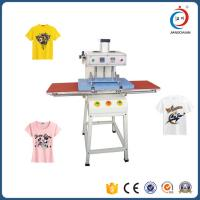 Double Sided T Shirt Semi - Automatic Heat Transfer Machine Adjustable Pressure Manufactures