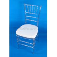 Outdoor Ceremony Clear Chiavari Chair , Recyclable PC Clear Tiffany Chair Manufactures