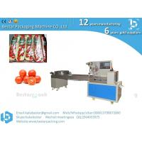 Factory Price Automatic Flow Cherry Tomato Wrapper Chocolate Bar Pillow Packaging Bread Bag Wipes Wet Towel Packing Mach Manufactures