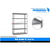 China Boltless Metal Shelving For Garage Storage / Heavy Duty Steel Storage Racks on sale