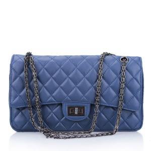 China Wholesale Diamond Lattice Leather Messenger Bags Cross Body Bags on sale
