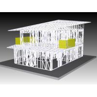 Office Light Steel Frame Houses , Prefabricated Kit Home For South Africa Manufactures