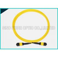 3.0mm Low Insertion 24x Lanes MTP Female Fiber Optic OS2 Singlemode Trunk Yellow Cable Manufactures