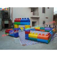 Commercial grade 0.55mm PVC tarpaulin Inflatable Soccer Fields Inflatable Sports Games Manufactures