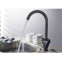 China Dual Handle Waterfall Black Kitchen Faucets , Deck Mount Kitchen Faucet ROVATE on sale