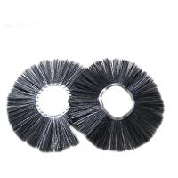 Cold Resistant Road Broom Sweep Brush , Black Wafer Snow Cleaning Brush Manufactures