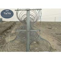 High Zinc Coating Mobile Security Barrier Anti Rust Blade Wire Fencing Manufactures