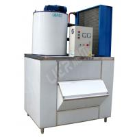 Health Ice Flake Maker , Small Commercial Ice Machine 2000kg Ice Capacity Manufactures