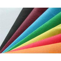 100% PP Non Woven Fabric Raw Material Breathable Non Toxic Colorful Easy To Wash Manufactures