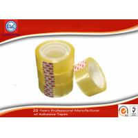 Yellowish transparent Easy Tear 12mm BOPP Stationery Tape For Art School Student Manufactures