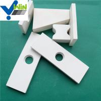 92% high wear resistant white alumina ceramic sheet with high temperature resistance Manufactures