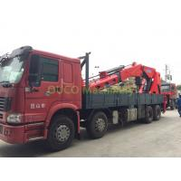 Compact Truck Mounted Boom Crane , 100T Lorry Mounted Crane Full Power Boom Manufactures