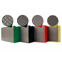 Hand Diamond Polishing Pads For Concrete / Marble / Granite 100x55mm 90x55mm Manufactures