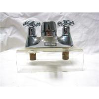 China Chrome Plated Kitchen Pull Out Faucet / 2 Hole Kitchen Taps For Hot & Cold Water on sale