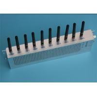 China Mobile Phone And Walkie Talkie GPS Wifi Signal Jammer With 10 Channel RF Output on sale