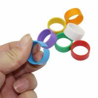 Colorful Bird Leg Rings Small Size , Farm Animals Lightweight Chicken Leg Tags Manufactures