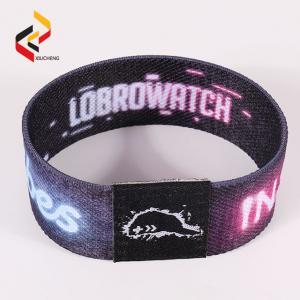 RFID Smart Elastic Wristband Custom Logo Events Stretch Bracelet Manufactures