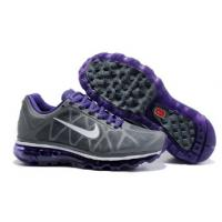 China salenikeoutlet--Cheap Womens Nike Air Max 2011 Mesh Shoes Charcoal Purple White on sale