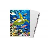 Sea Animal Image Custom Printed Spiral Notebooks 3D Cover High Definition Manufactures