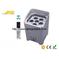 Quality RGBWAUV​ Led DMX Flat Battery Par Light , Wireless Operated Power Par Can Light for sale