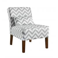 Patterned Upholstered Accent Chairs Tight Back , Low Back Living Room Chairs Manufactures
