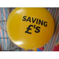 2m 0.18mm Pvc Yellow Brand Inflatable Helium Balloon For Advertising for sale