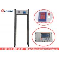 China Airport Metal Detector Body Scanner Weapon Detection Walk Through 6 Detecting Zones on sale