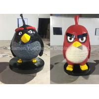 Famous Game Large Outdoor Fiberglass Statues Angry Bird And Green Pig Statues Manufactures