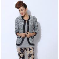 China Anti-wrinkle Womens Wool Sweaters Cardigan Short Knit for winter on sale