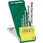 Round Flute 5pcs Masonry Drill Bit Set Straight Shank Chrome Coated Surface Manufactures