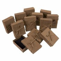 China 3.6 X 1 X 2.7 Inches Small Cardboard Gift Boxes Brown Color With Lids on sale