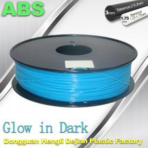 ABS Glow in The Dark 3d Printer Filament 1.75 / 3mm  glow in dark Blue ABS filament Manufactures