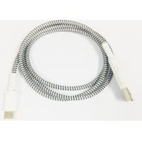 Micro / Lightning / Type-C Grey Plastic Head Braided High Gloss Braided Charging & Sync Cable Manufactures