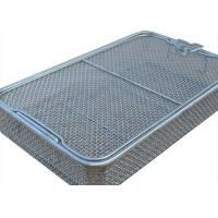 304 Stainless Steel Wire Mesh Medical Disinfection Basket 40cm x 25cm x 7cm Size Manufactures