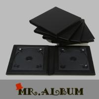 Faux leather double CD case with plain cover_CD case holder Manufactures