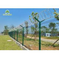 Pre Galvanized Welded Wire FenceWeather Proof For Shipping Port Security