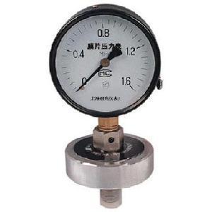 YPF Series Corrosive Resistant Diaphragm Pressure Gauge Manufactures