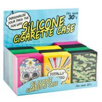 China Custom Cool Silicone Cigarette Case For Men , Rolling Or Crammed For 20 Cigarettes on sale