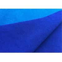 Attractive Wool Velour Fabric Blue Sapphire Color For Women'S / Men'S Coat Manufactures