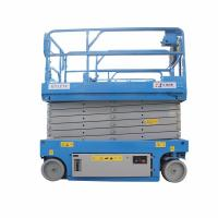 2 Tons Upright Pneumatic Small Hydraulic Scissor Lift System Large Load Capacity Manufactures