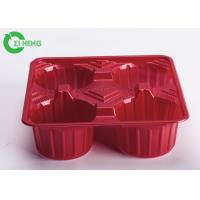 Crack Resistance Disposable Cup Holder Tray For Four Cups 17.6 * 17.6 * 5.1 CM Manufactures
