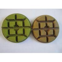 """Quality 75mm 3"""" Diamond Polishing Pad For Marble Floors Black White Green Color for sale"""