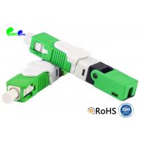 SC APC Fiber Optic Connector SC Single Mode Field Assembly 0.3dB Insertion Loss Manufactures