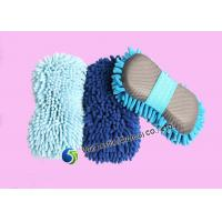 Flexibility Chenille Car Wash Sponge with Long Pile , Microfiber Cleaning Cloth Manufactures