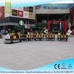 China Hansel hot sale tourist amusement kiddie rides amusement park trains for sale on sale