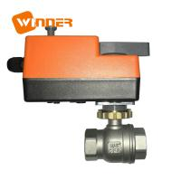 Electric Motor Operated Stainless Steel Ball Valve Manual Override 110VAC Manufactures