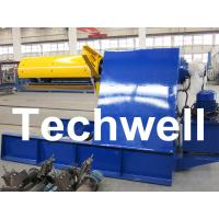 Custom 5 - 20 Ton Curving Machine Hydraulic Decoiler With Pneumatic Damp Pressing Arm Manufactures