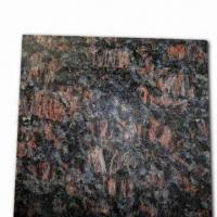 Tan Brown Granite Slab Tile, Customized Sizes and Designs are Accepted Manufactures